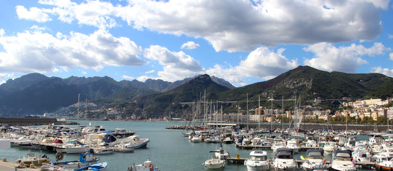 Beautiful view of Amalfi coast, Italy