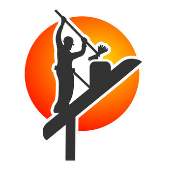 ramonage ramoneur logo vecteur
