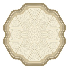 Isolated decorative element for card design, t-shirt print, ceramic tile.