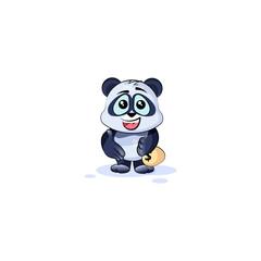 panda bear extend hand offer business deal