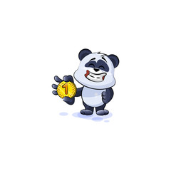 panda bear business cryptocurrency coin money