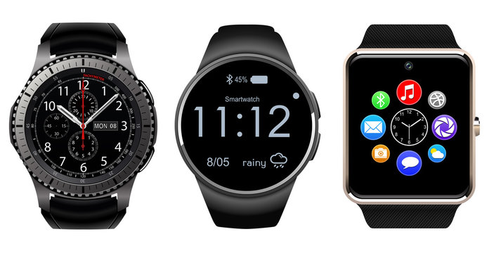 Smartwatch wearable computer accessory isolated