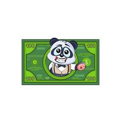panda bear in business suit profit dollar