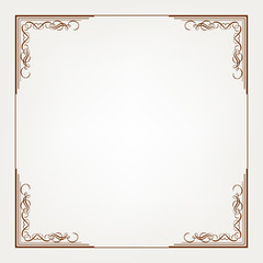 Frame is on the white background.