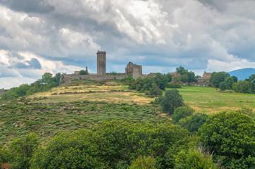 La Garde-Guérin, fortified village in Lozère,France.