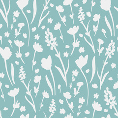 Flower Pattern. Endless Background. Seamless