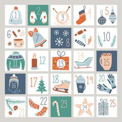 Fototapeta Countdown Advent Calendar obraz