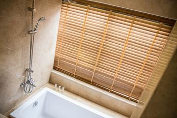 clean modern style bathroom, luxury suit in a hotel