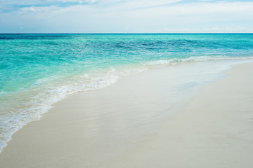 Secluded island. Paradise tropical island, white sand and clear water. Landscape