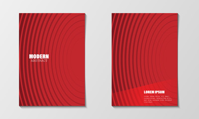 Minimal abstract covers design template. Modern red circle line gradients. Company profile brochure and business annual report. EPS10 vector illustration. Printable A4 size and any paper size