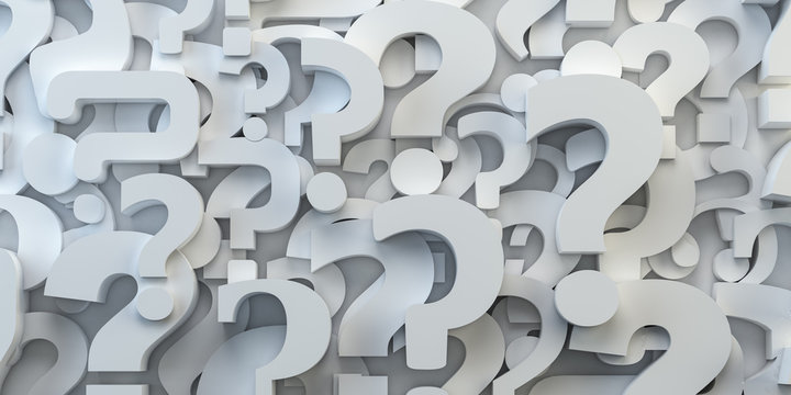 Question marks backround. FAQ, decision and confusion concept.