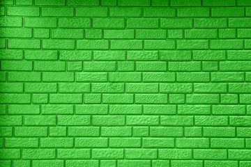 Grey brick wall background and texture in bright day.
