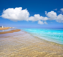 Playa de la Mata beach in Torrevieja Spain