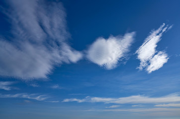 Blue sky in summer with white clouds