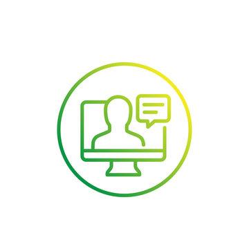 webinar linear icon on white