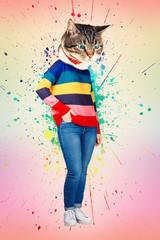 cat head woman