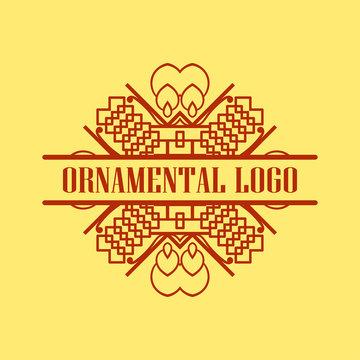 Luxury antique art deco monochrome hipster minimal geometric vintage linear vector frame , border , label, logo