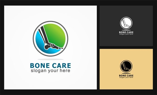 bone care icon vector logo