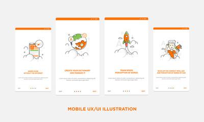 Mobile ux illustration