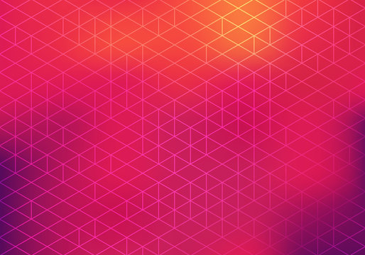 Colorful Bg with Geometric Pattern and Blurred Gradient. Vector Abstract Bg