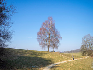 Wanderung zum gefrorener Eichener see bei Eichen im Naturpark Südschwarzwald. Landkreis Lörrach