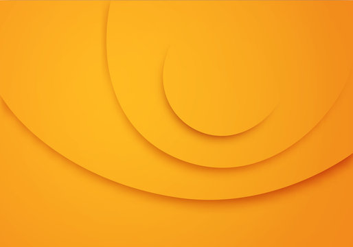 Yellow Vector Background with Circle Stripes. Yellow Texture. Illustration for Business Banners or Summer Posters
