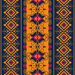 Ethnic seamless pattern. Tribal kilim. Aztec, Mexican, Boho, native fabric.