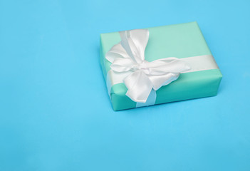 Turquoise present on blue background