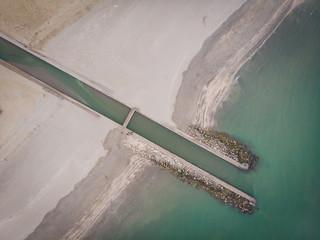 Foce di canale vista da drone