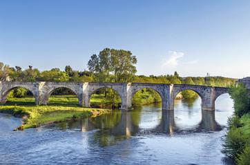 Old bridge in Carcassonne, France