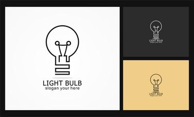 light bulb icon vector logo
