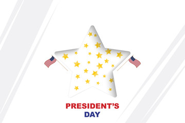 Happy Presidents Day of USA. Template design element with star and USA flag