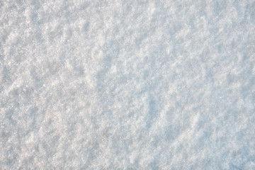 Texture of the white clear snow. Winter Christmas background