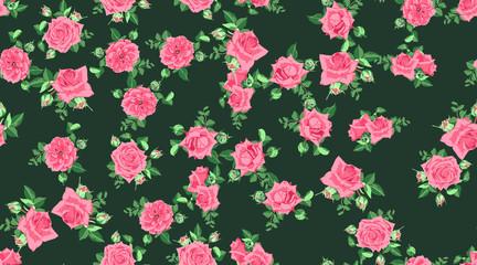 Vector Roses Pattern, Wedding Design.