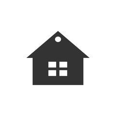 Building home icon on white backboard,vector symbol