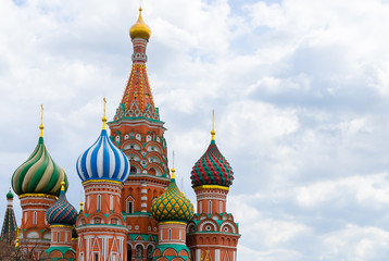 Temple of the Blessed Basil on Red Square in Moscow. Kremlin. Russia