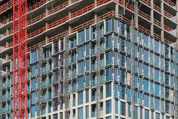 construction site of skyscraper building - real estate development