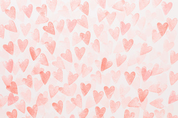 Abstract watercolor heart background. Concept love, valentine day greeting card.