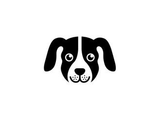 Creative Dog Face Head Logo