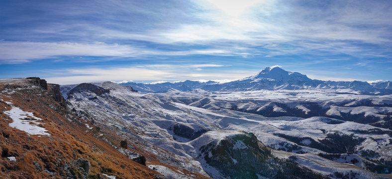 Caucasus region and Elbrus