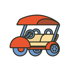 golf car isolated icon