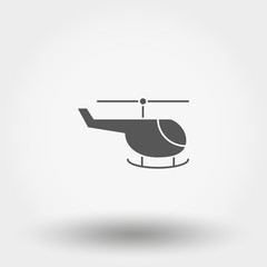 Helicopter. Toy. Icon. Vector. Silhouette. Flat design