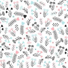 Fototapete - Delicate pattern in small flowers