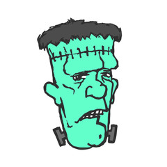 Frankenstein. Monster head. Vector illustration