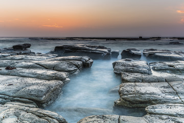 Coastal Sunrise and Rock Platform