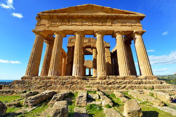 Ancient Greek Temple Concordia in Agrigento Sicily