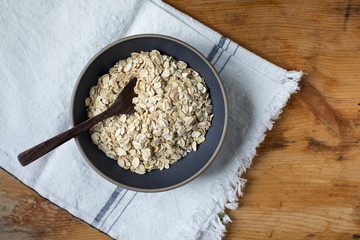 Uncooked whole grain oats