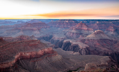 Wall Mural - Grand Canyon at twilight, Arizona, USA