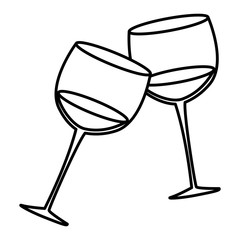 wine cups toast icon