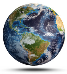 Wall Mural - Planet Earth from space. 3d rendering